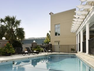 outdoor pool area at King Charles Inn in Charleston