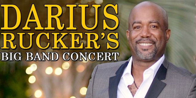 DARIUS RUCKER BIG BAND CONCERT AT THE GAILLARD CENTER