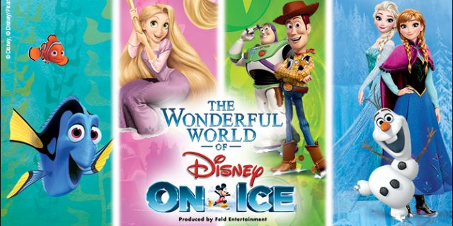 THE WONDERFUL WORLD OF DISNEY ON ICE AT THE NORTH CHARLESTON COLISEUM