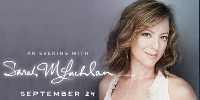 SARAH MCLACHLAN AT THE NORTH CHARLESTON PERFORMING ARTS CENTER