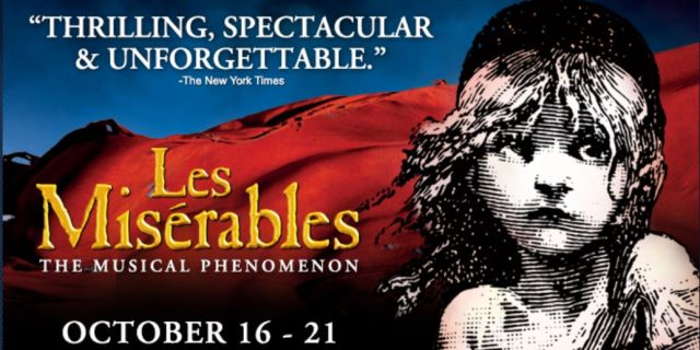 Les Miserables at the North Charleston Performing Arts Center