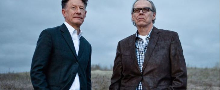 Lyle Lovett, John Hiatt Are Posing For A Picture
